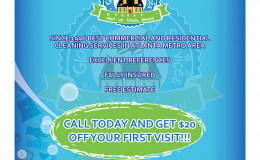 Glowing Cleaning Services – Flyer
